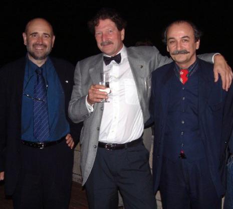 De izquierda a derecha, Jordi Padró, Frans Schouten y Tomislav Zola, tres destacados profesores de la Escuela de Patrimonio de Barcelona